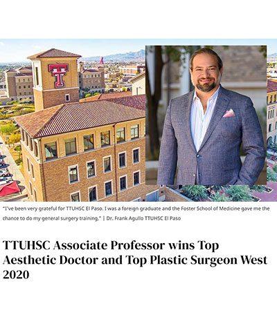 Article: TTUHSC Associate Professor, Dr. Frank Agullo